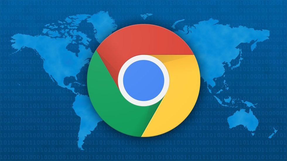 Världskarta, Chrome-ikon