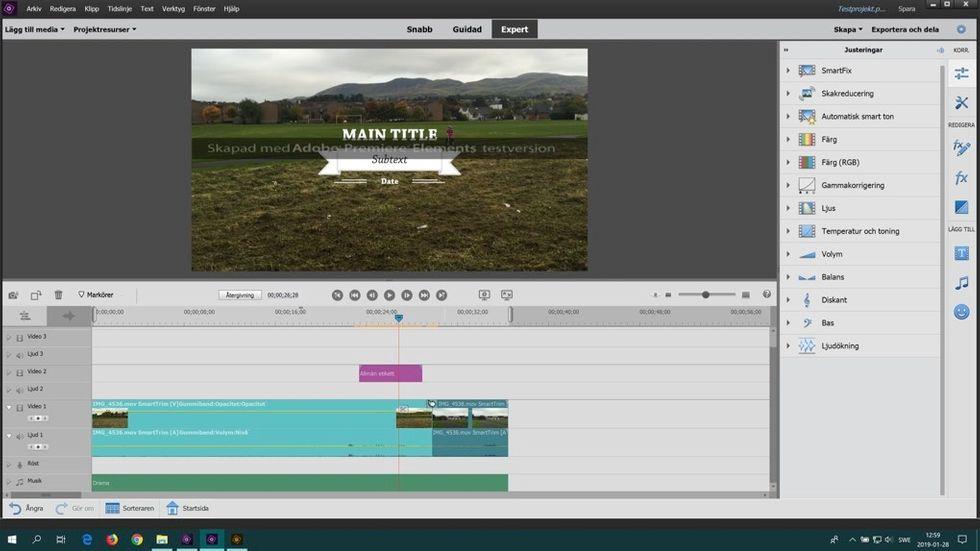 Videoredigering med Premiere Elements