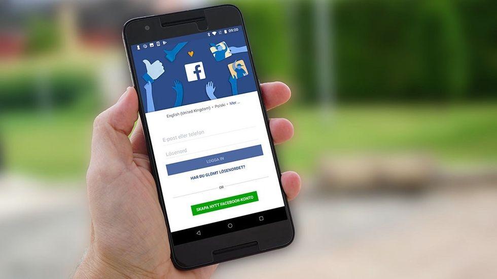 Facebook på mobil