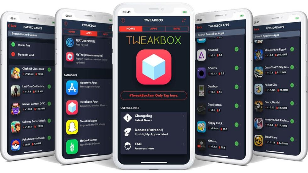 Tweakbox, en av flera alternativa appbutiker