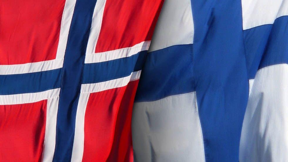 Norsk och finsk flagga