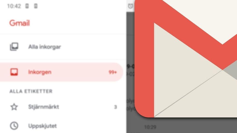 Gmail i mobilen