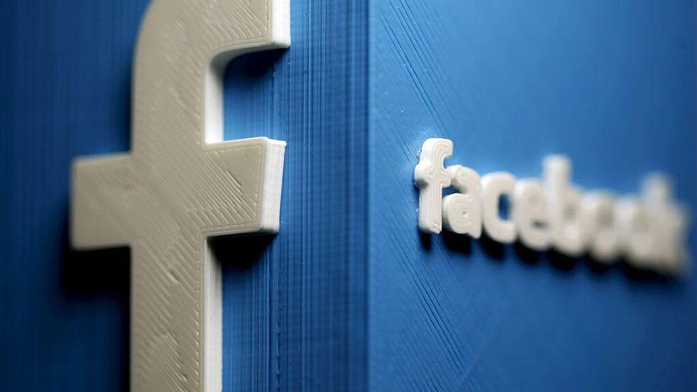 Facebook-ikon i 3d