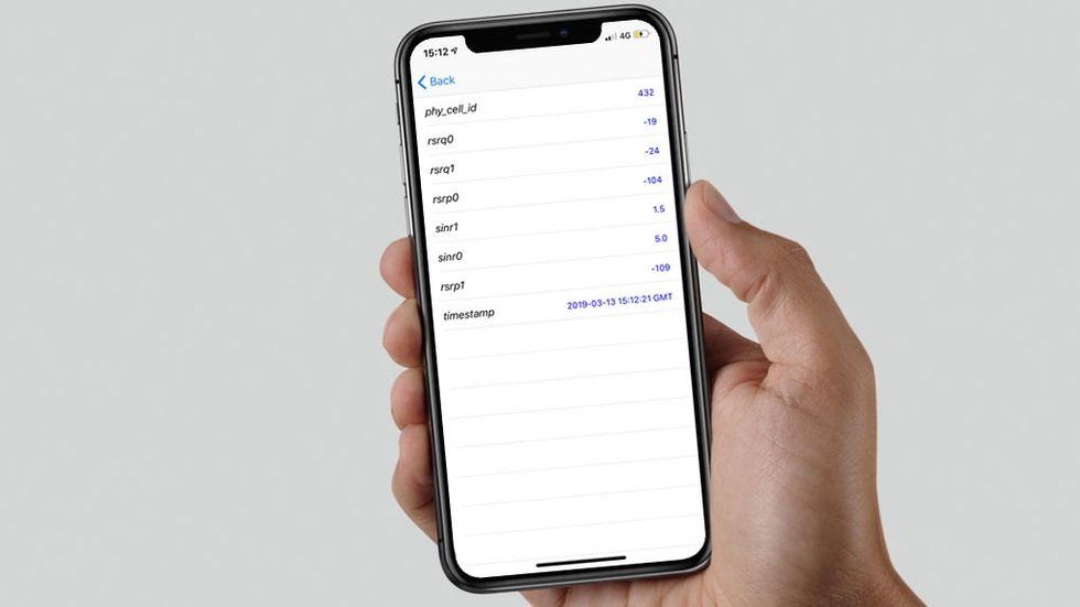 Iphones dolda Field Test-meny