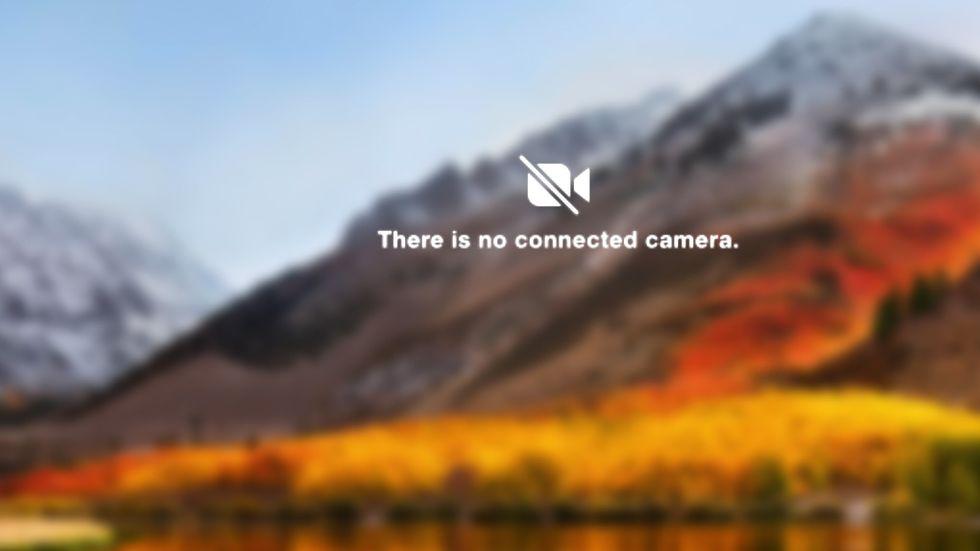 Ingen kamera Mac