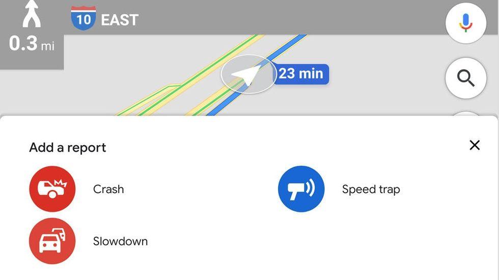 Google Maps med kövarningar