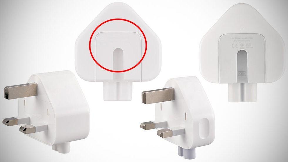 Apple återkallar brittiska stickkontakter ???har ingått i