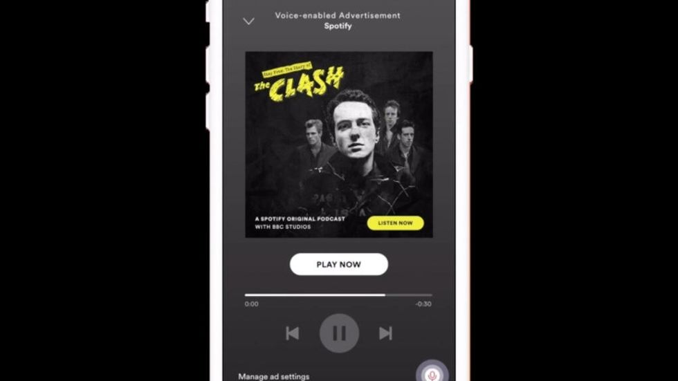 Spotifys röststyrda reklam