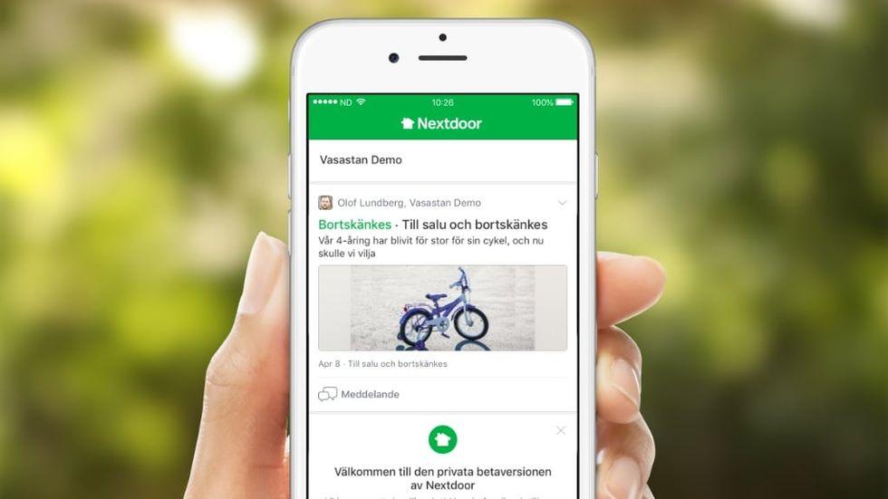 Kvartersappen Nextdoor kommer till Sverige