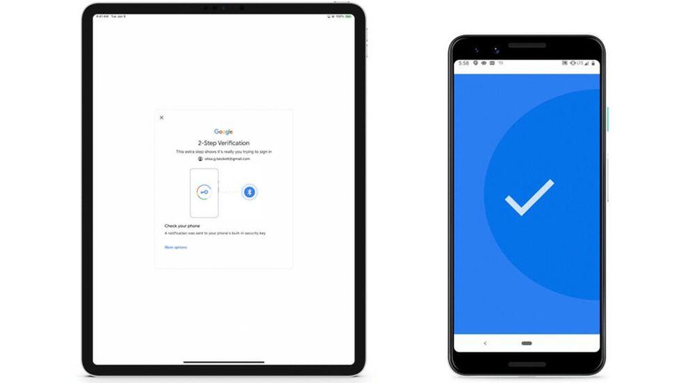 Använd Android-mobilen som säkerhetsnyckel för G Sutie på IOS