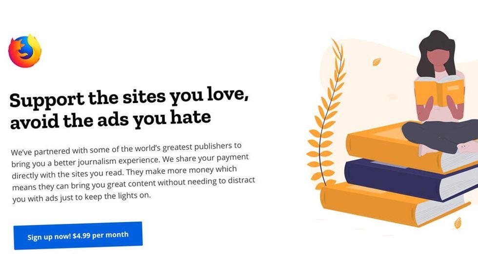 Mozillas tjänst för reklamfritt internet