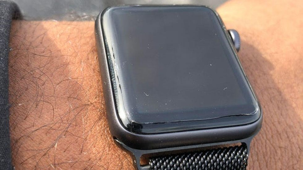 Apple Watch med spricka