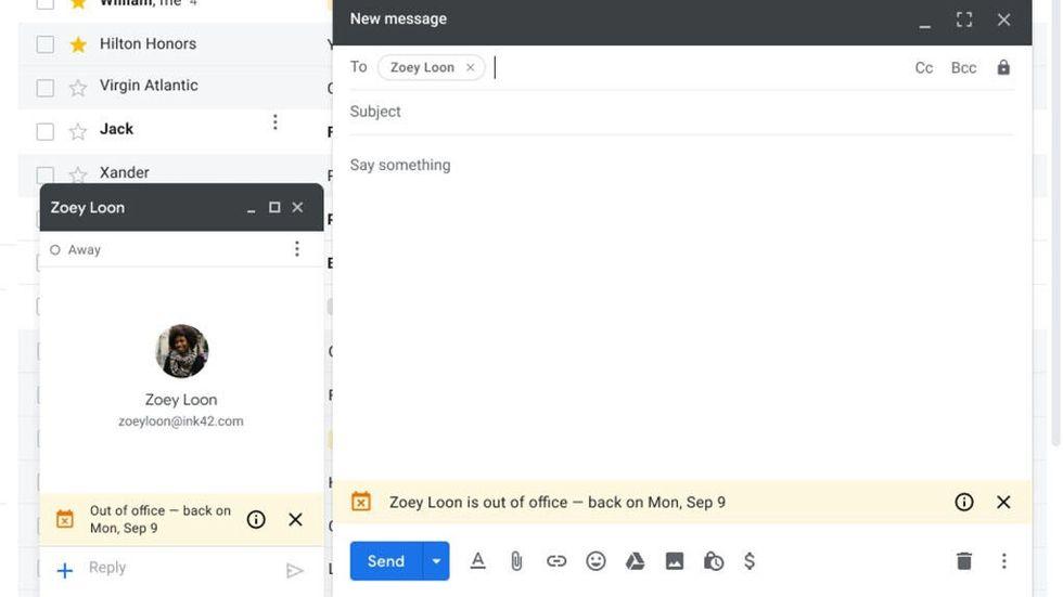 Semestervarningar med Gmail på G Suite
