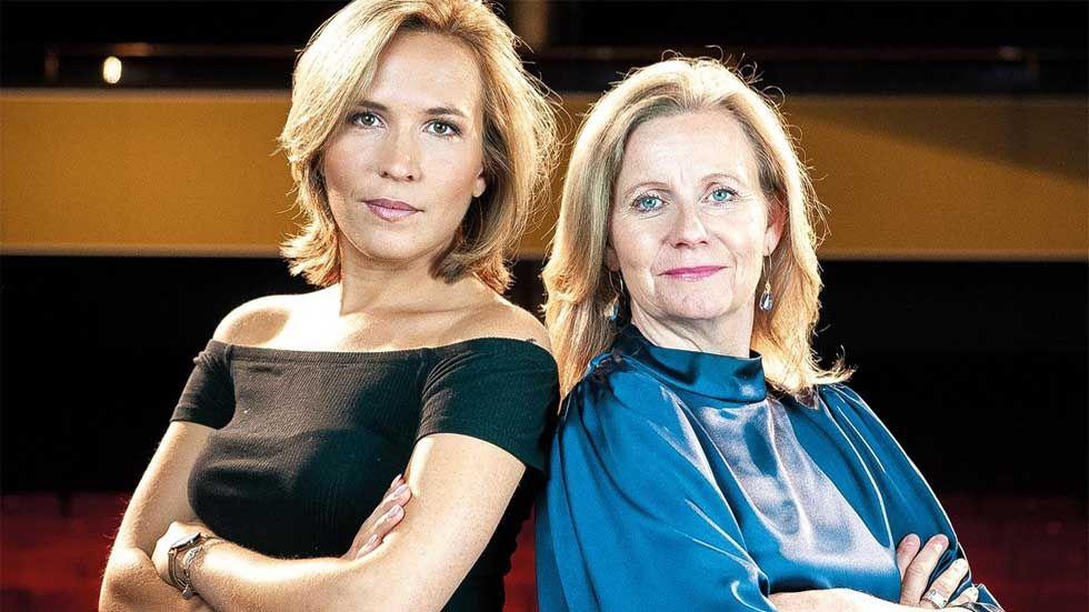 Livepoddare. Fanny Widman kommer bland annat att intervjua Microsofts vd Hélène Barnekow på scen.