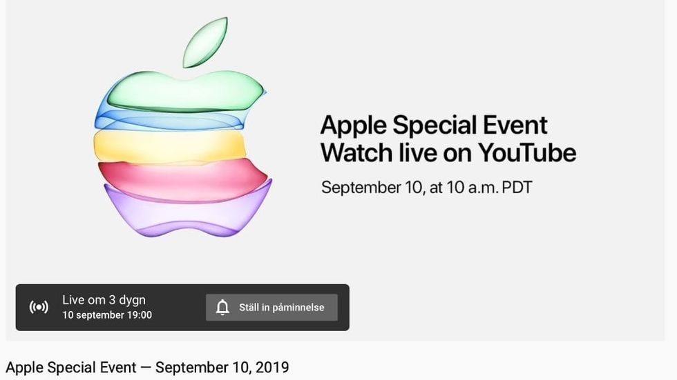 Apple-event live Youtube