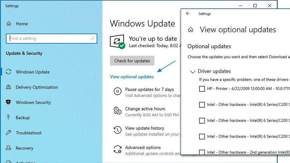 Windows 10 20H1 frivilliga uppdateringar