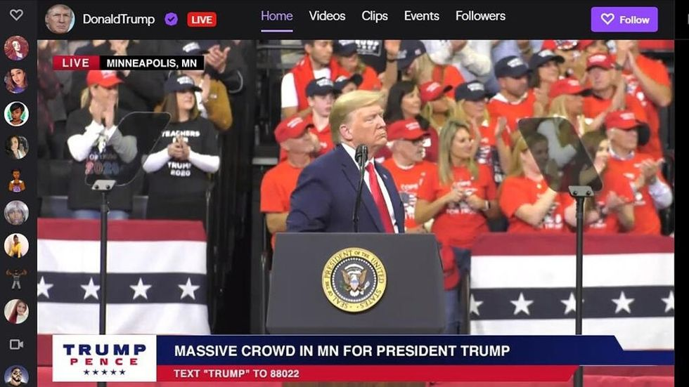 Donald Trump på Twitch
