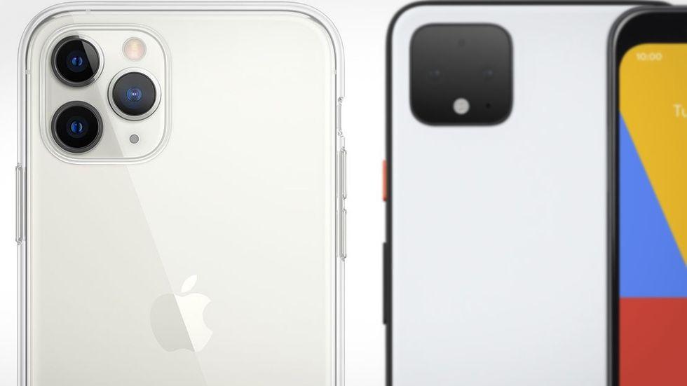 Pixel 4 och Iphone 11 Pro