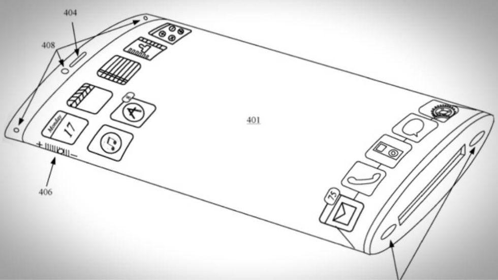 Iphone med omslutande skärm