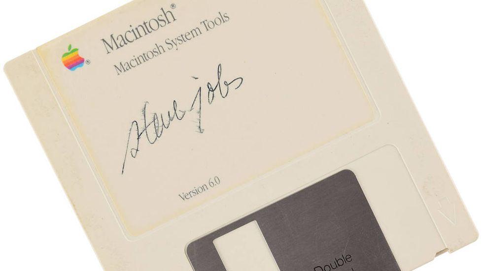 Steve Jobs-signerad diskett