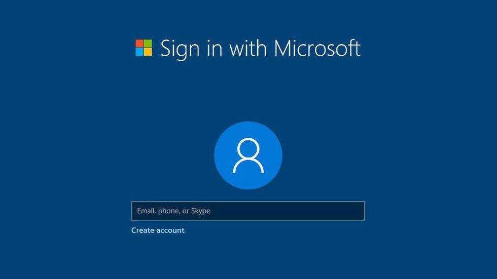 Windows 10 skapa konto