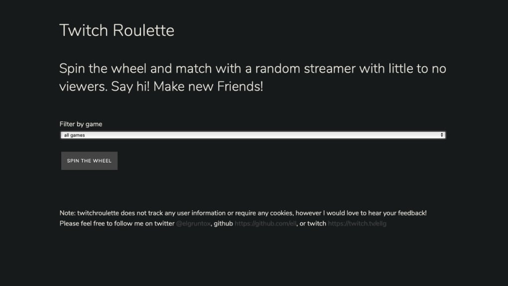 Twitch Roulette