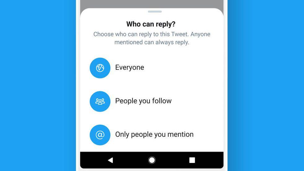 Twitters nya svarsinställningar