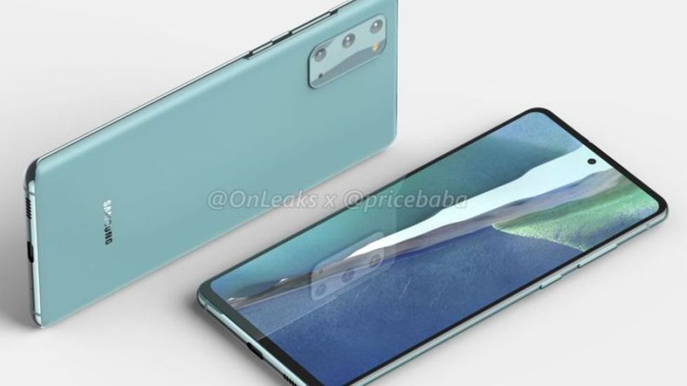 Samsung Galaxy 20 fan edition foto onleaks