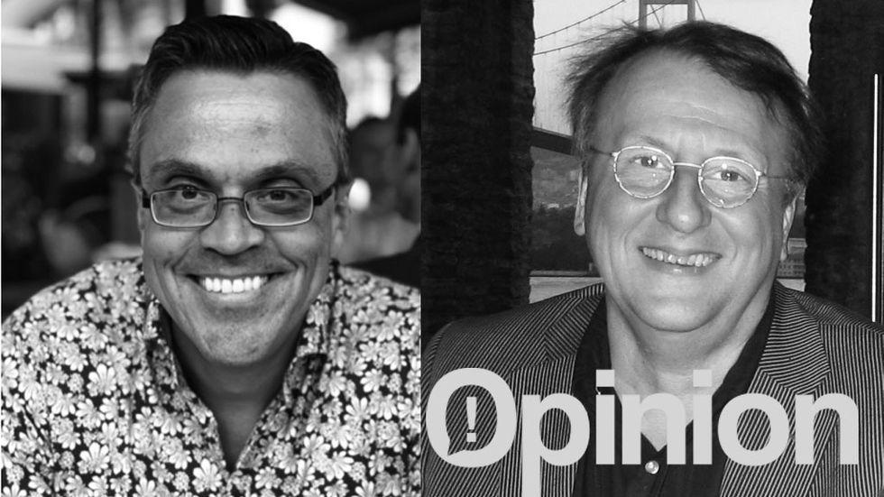 Jan Nilsson och Tore Risch, grundare av Stream Analyze Sweden