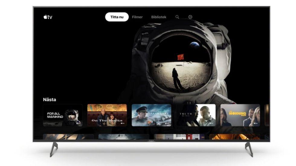 Sony-tv med Apples tv-app