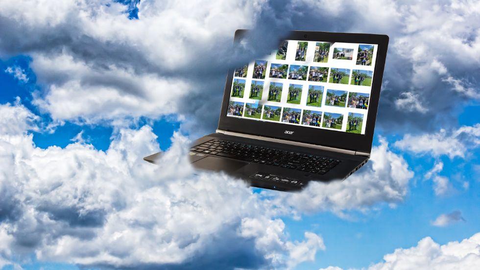 Lagra bilder i molnet