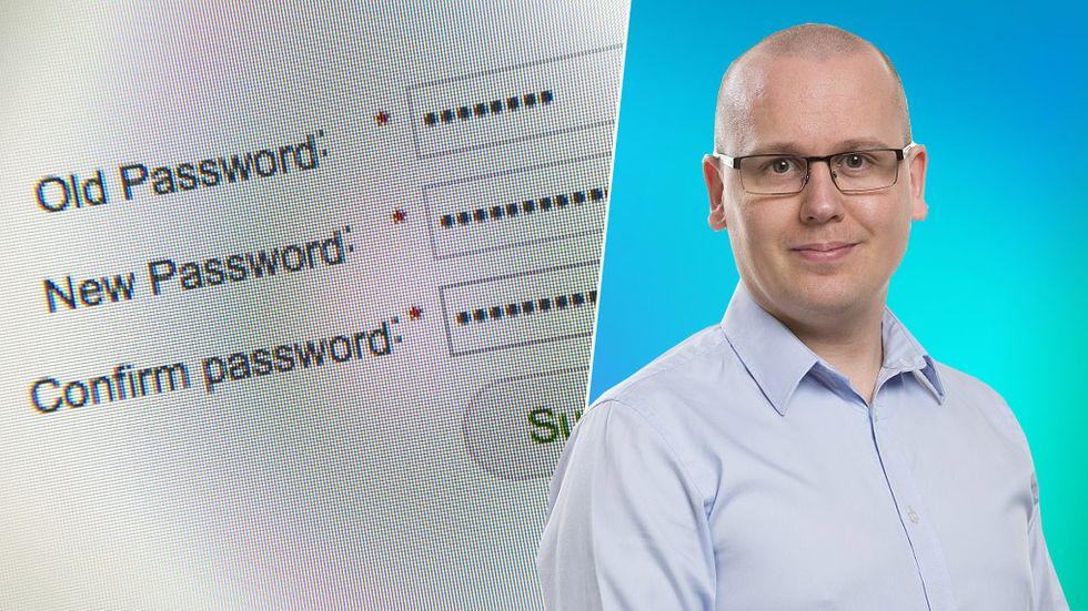 Karl Emil Nikka byta lösenord