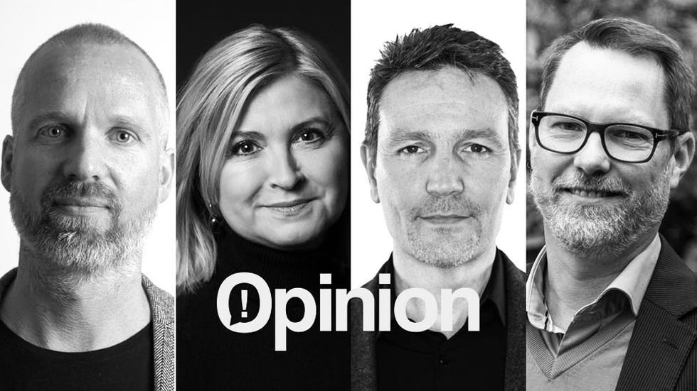 Joakim Öhman, Elastx, Charlotte Darth, Binero Group, Johan Christenson, City Network, och Fredric Wallsten, Safespring.