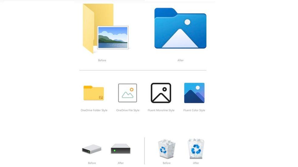 Microsoft nya ikoner utforskaren