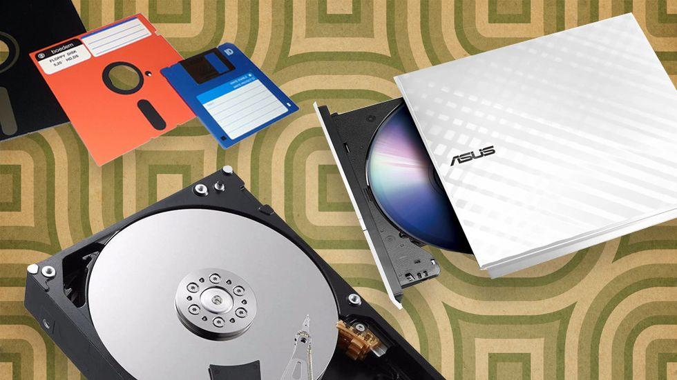 Läsa filer från gamla hårddiskar och disketter