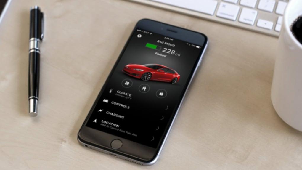 Tesla-appen uppdateras