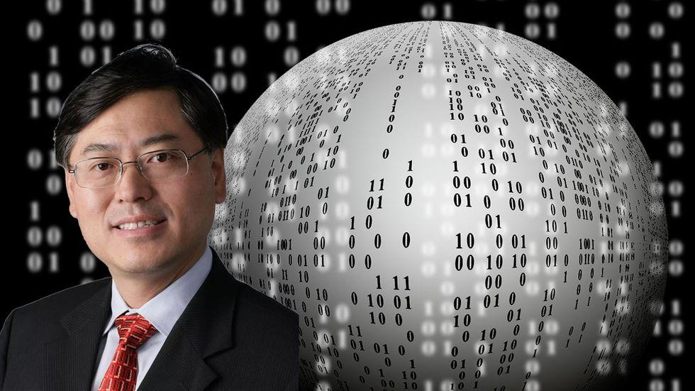 """Den nya hybrida världen. \""""Det är en permanent strukturförändring i individens livsstil och organisationskulturer\"""", säger Lenovosvd Yuanqing Yang."""
