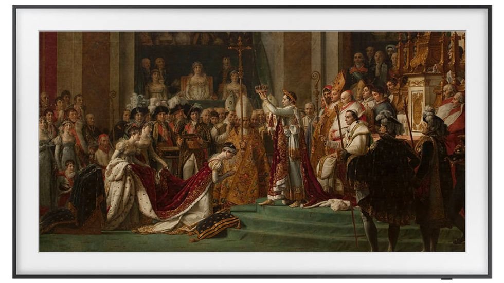 The Frame med Napoleons kröning av Jacques-Louis David