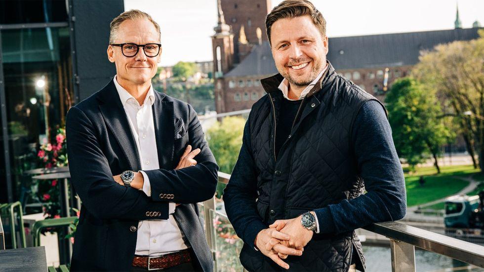 Salesforces och Tableaus Sverigechefer Dan Bjurman och Fredrik Holmgren