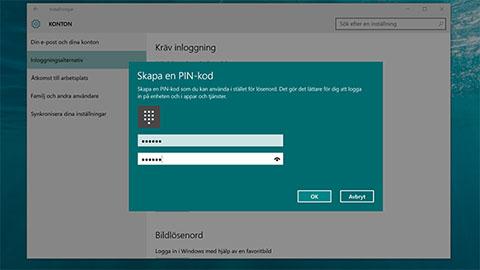 ändra användarkonto windows 10