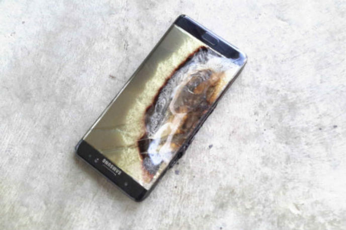 Brandskadad Galaxy note 7