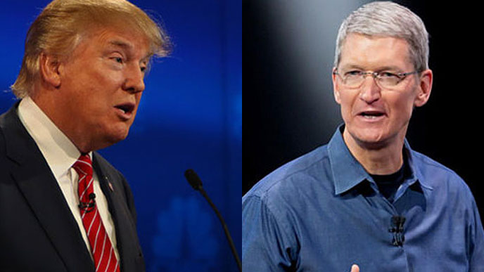 Donald Trump & Tim Cook